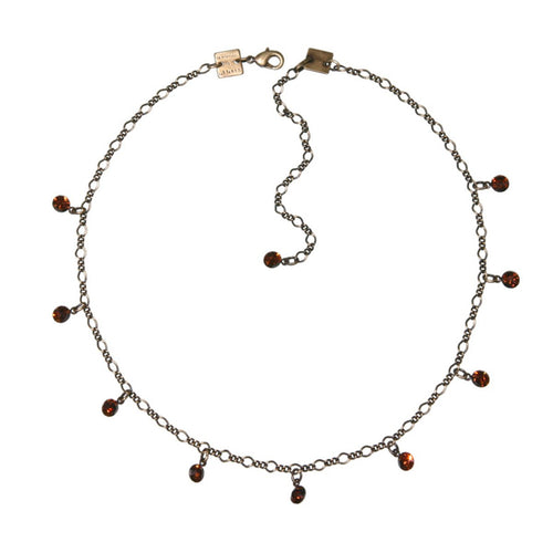 Konplott Kette Collier Tutui Collection braun smoked topaz silber