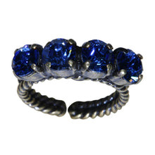 Laden Sie das Bild in den Galerie-Viewer, Konplott Ring Colour Snake blau Saphir SS 29