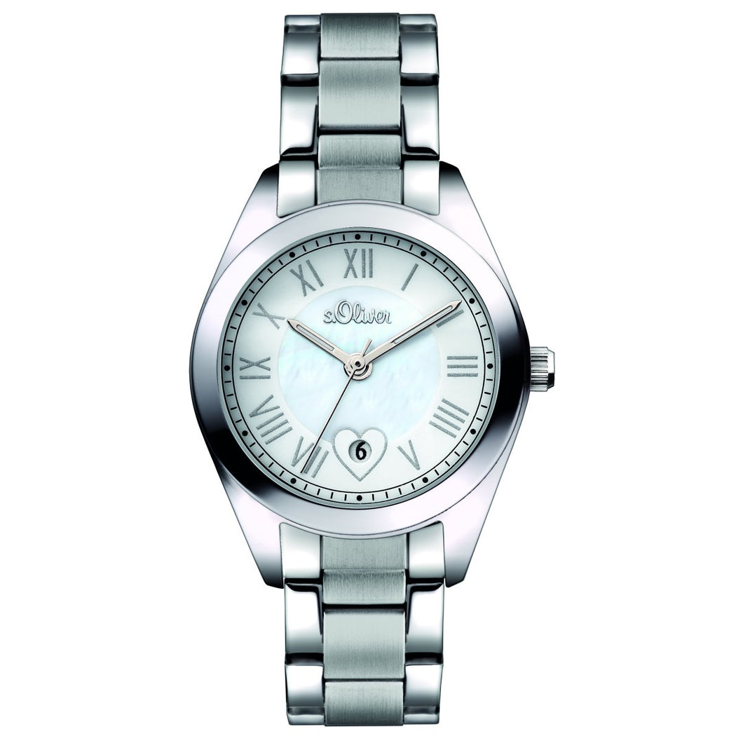 s.Oliver Damen-Armbanduhr Analog Quarz SO-15084-MQR