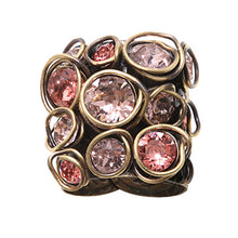 Laden Sie das Bild in den Galerie-Viewer, Konplott Ring Sparkle Twist pink orange