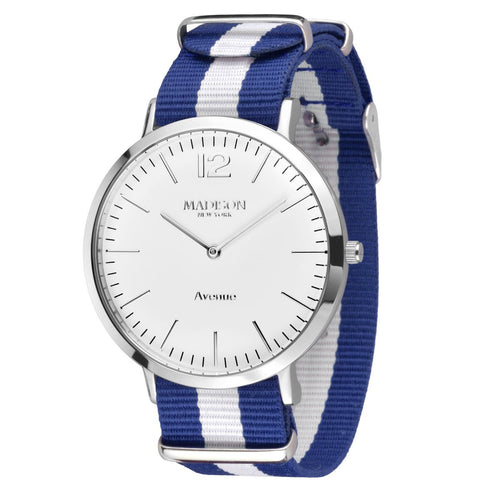 MADISON NEW YORK Unisex Uhr Armbanduhr Avenue Textil G4741F1