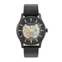 Laden Sie das Bild in den Galerie-Viewer, Kenneth Cole New York Herren-Armbanduhr Automatik Leder KC15110002