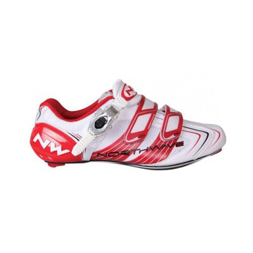 Schuhe Northwave Evolution SBS Road 2012/13 white/red Gr.45
