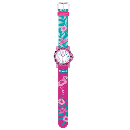 Scout Kinder Uhr Lernuhr IT-Collection - Glitter Flamingo Mädchen 280375019
