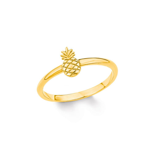s.Oliver Jewel Damen Ring Silber Gold Zirkonia SO PURE Ananas 201995