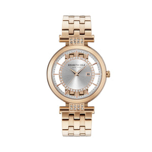 Kenneth Cole New York Damen-Armbanduhr Analog Quarz Edelstahl KC15005004