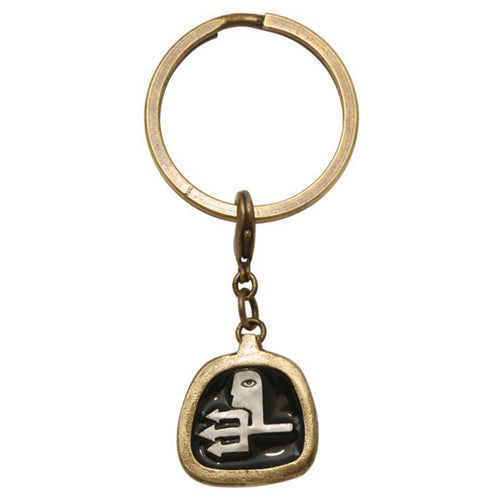 Konplott Anhänger Charm Zodiac Aquarlus/Wassermann black antique brass