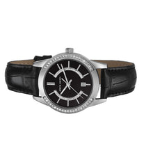 Laden Sie das Bild in den Galerie-Viewer, Pierre Cardin Damen Uhr Armbanduhr TROCA LADY BLACK Leder PC106582F02