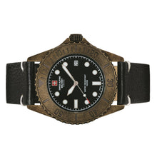 Laden Sie das Bild in den Galerie-Viewer, Swiss Alpine Military Herren Uhr Analog Quarz Vintage 7051.1587SAM Leder