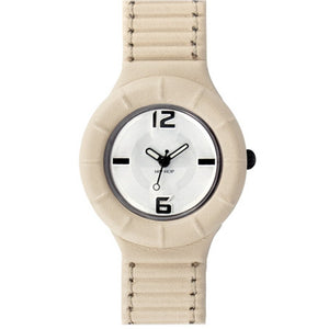 Hip Hop Uhr Silikonuhr leather small HWU0198 panna