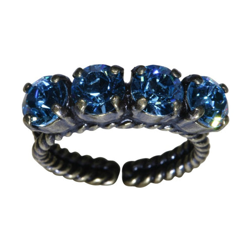 Konplott Ring Colour Snake hellblau Aquamarin SS 29
