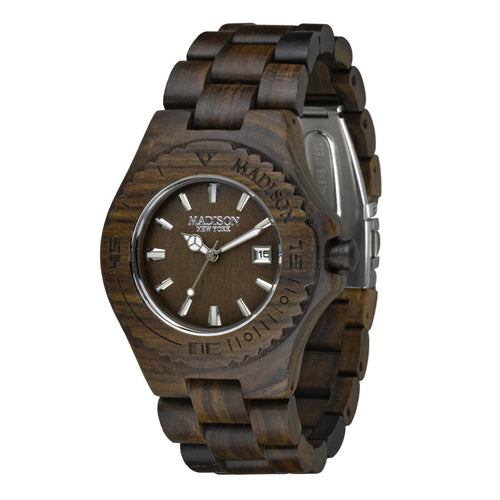 Madison New York Unisex Uhr Armbanduhr Holzuhr G4542D