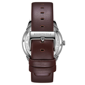 Kenneth Cole New York Herren-Armbanduhr Automatik KC51016003 Leder