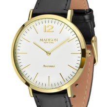 Laden Sie das Bild in den Galerie-Viewer, MADISON NEW YORK Damen Uhr Armbanduhr Avenue Leder L4741C2