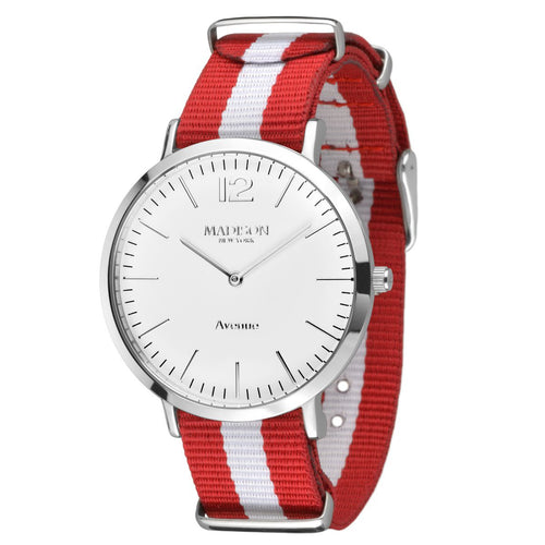 MADISON NEW YORK Damen Uhr Armbanduhr Avenue Textil L4741G1