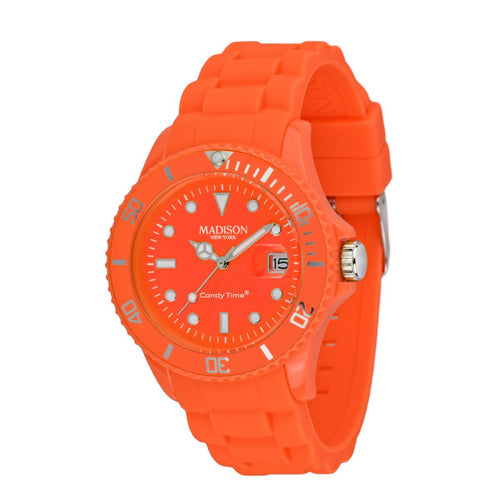 Candy Time by Madison N.Y. Uhr Unisex U4503-51-1 neon orange