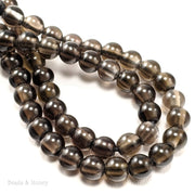 Dakota Stones Smoky Quartz Large Hole Bead Round 8mm (8-Inch Strand)