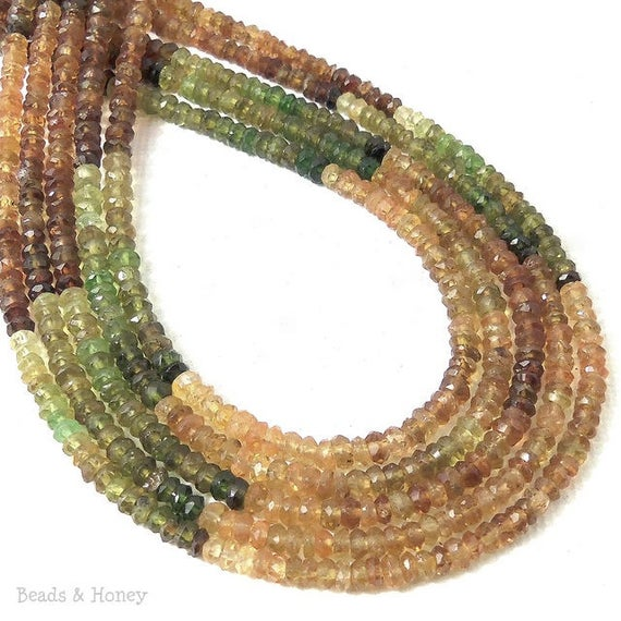Golden Tourmaline Bead Rondelle Faceted 3mm (13-Inch Strand)
