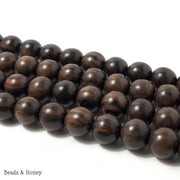Ebony Wood Beads Round 14-15mm (16-Inch Strand)