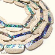 Mactan Stone Inlaid Abalone Shell Oval 23x35mm (1pc)