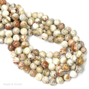 Mexican Crazy Lace Agate Bead Round 8mm (15-Inch Strand)