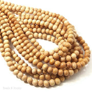 Meranti Wood Bead Light Round 6mm (16 Inch Strand)