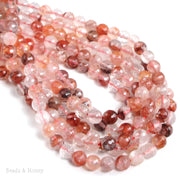 Natural Red Crystal Quartz Round Faceted 6mm (15-inch Strand)