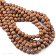 Magkuno Wood Bead Very Light Round 6mm (16-Inch Strand)