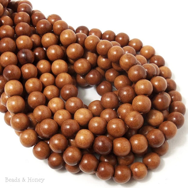 Magkuno Wood Light Round 10mm (16 Inch Strand)