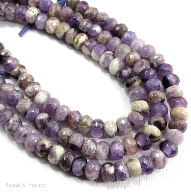 Dakota Stones Cape Amethyst Large Hole Bead Rondelle Faceted 8mm (8-Inch Strand)