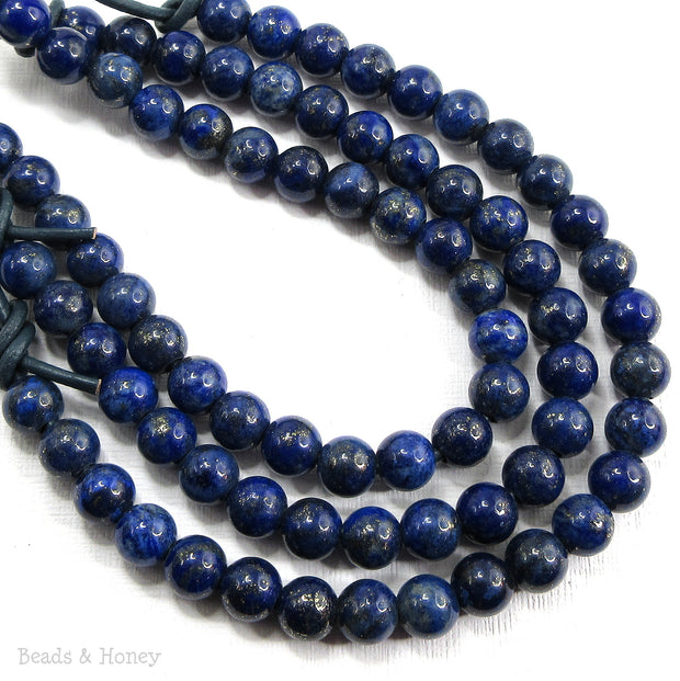 Dakota Stones Lapis Large Hole Bead Round 8mm (8-Inch Strand)