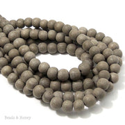 Unfinished Graywood Beads Round 8mm (16-Inch Strand)