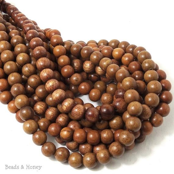 Magkuno Wood Beads Light Round 8mm (16-Inch Strand)