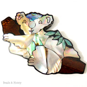 Mosaic Shell Inlaid Resin Cabochon Koala Bear 100x55mm (1pc)