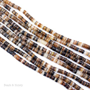 Brown Lip Shell Heishi 3-4mm (16-Inch Strand)
