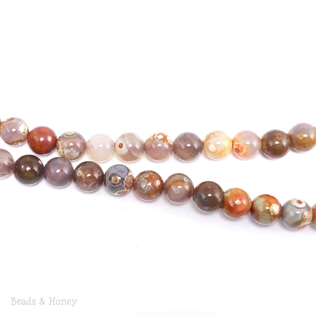 Bird's Eye Rhyolite Bead Orange Round 8mm (15-Inch Strand)