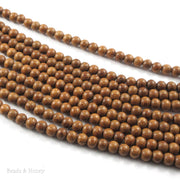 Madre de Cacao Wood Medium Brown Round 6-7mm (16-Inch Strand)