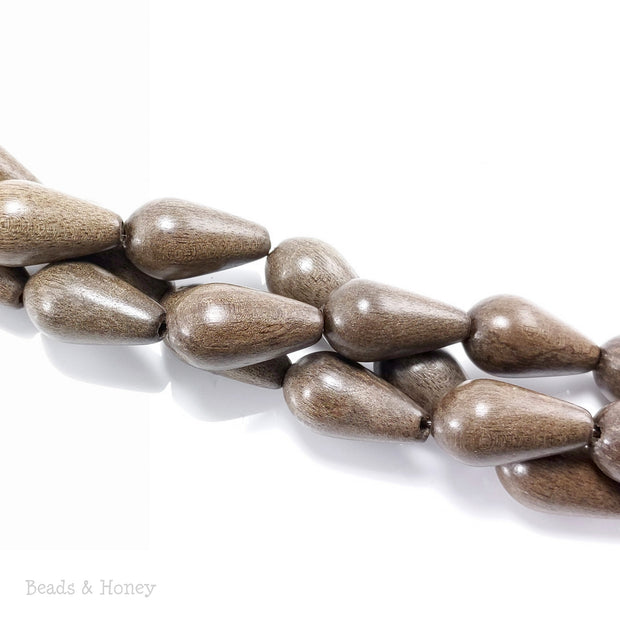 Graywood Bead Teardrop/Pear 13x22mm (8-Inch Strand)