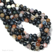 Montana Agate Beads (Dark/Opaque) Round 8mm (16-Inch Strand)