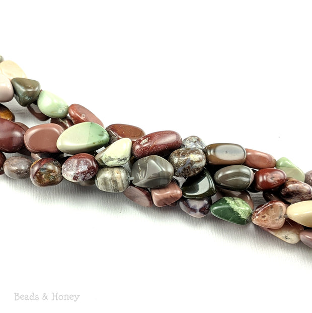 Imperial Jasper Beads Small Nugget 9x7mm - 12x9mm (16-Inch Strand)