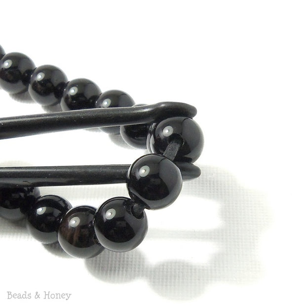 Dakota Stones Black Onyx Large Hole Bead Round 10mm (8 Inch Strand)