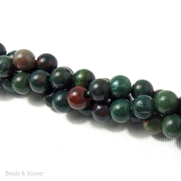 Dakota Stones Bloodstone Large Hole Bead Round 8mm (7.5 Inch Strand)