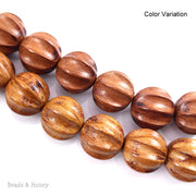 Nangka Wood Bead Carved Ball 20mm (10pcs)