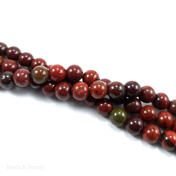 Dakota Stones Apple Jasper Large Hole Bead Round 8mm (8 Inch Strand)