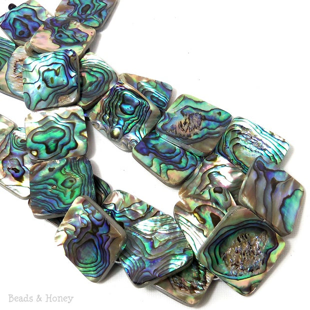 Abalone Shell Square Flat 25mm (8pcs)