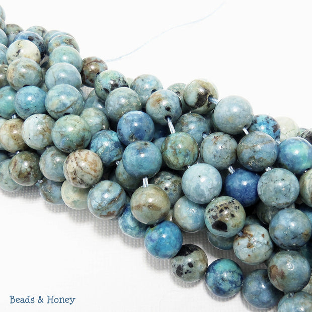 African Blue Opal Round Smooth 8mm (Half Strand)