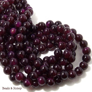 Purple Magenta Agate Dyed Round Smooth 10mm (Full Strand)