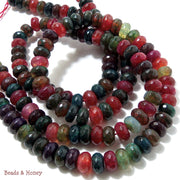 Rainbow Fired Crackle Agate Rondelle Faceted 8mm (Half Strand)