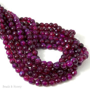 Purple Magenta Fired Agate Round Faceted 6mm (14.5-15 Inch Strand)