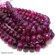Agate Fired Magenta Rondelle Faceted 12mm (Half Strand)